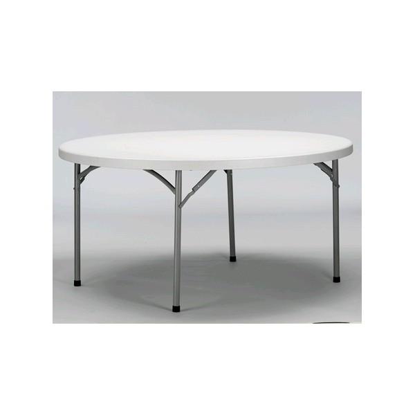 location table ronde diam 150 pour 6 personnes